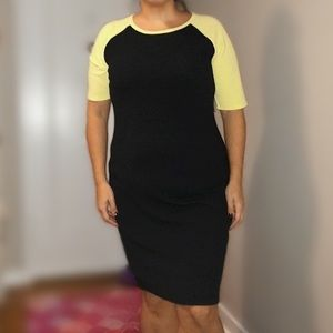 Black and bright yellow Julia dress
